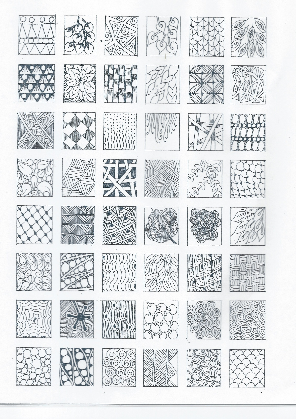 Simple zentangle patterns quote for Drawing patterns for beginners