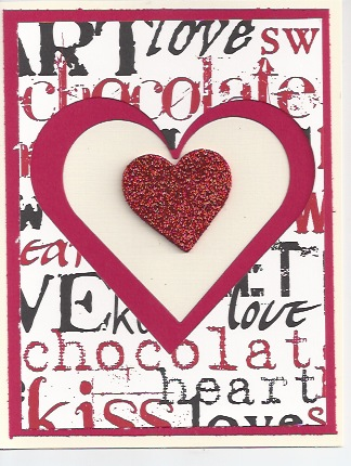  DAWNS DIE CUT VALENTINE