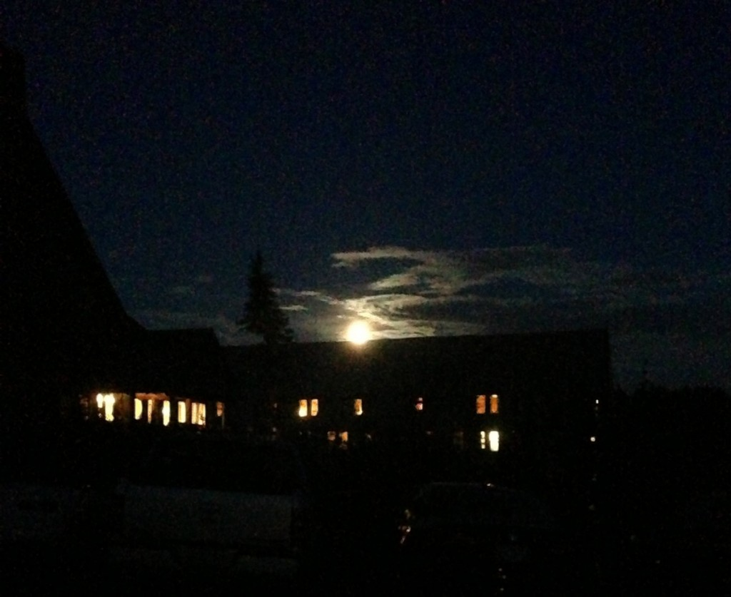 PARADISE INN with BLUE MOON RISING BEHIND IT KH