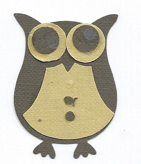 From the punch you get all these pieces so you can make your own owl...