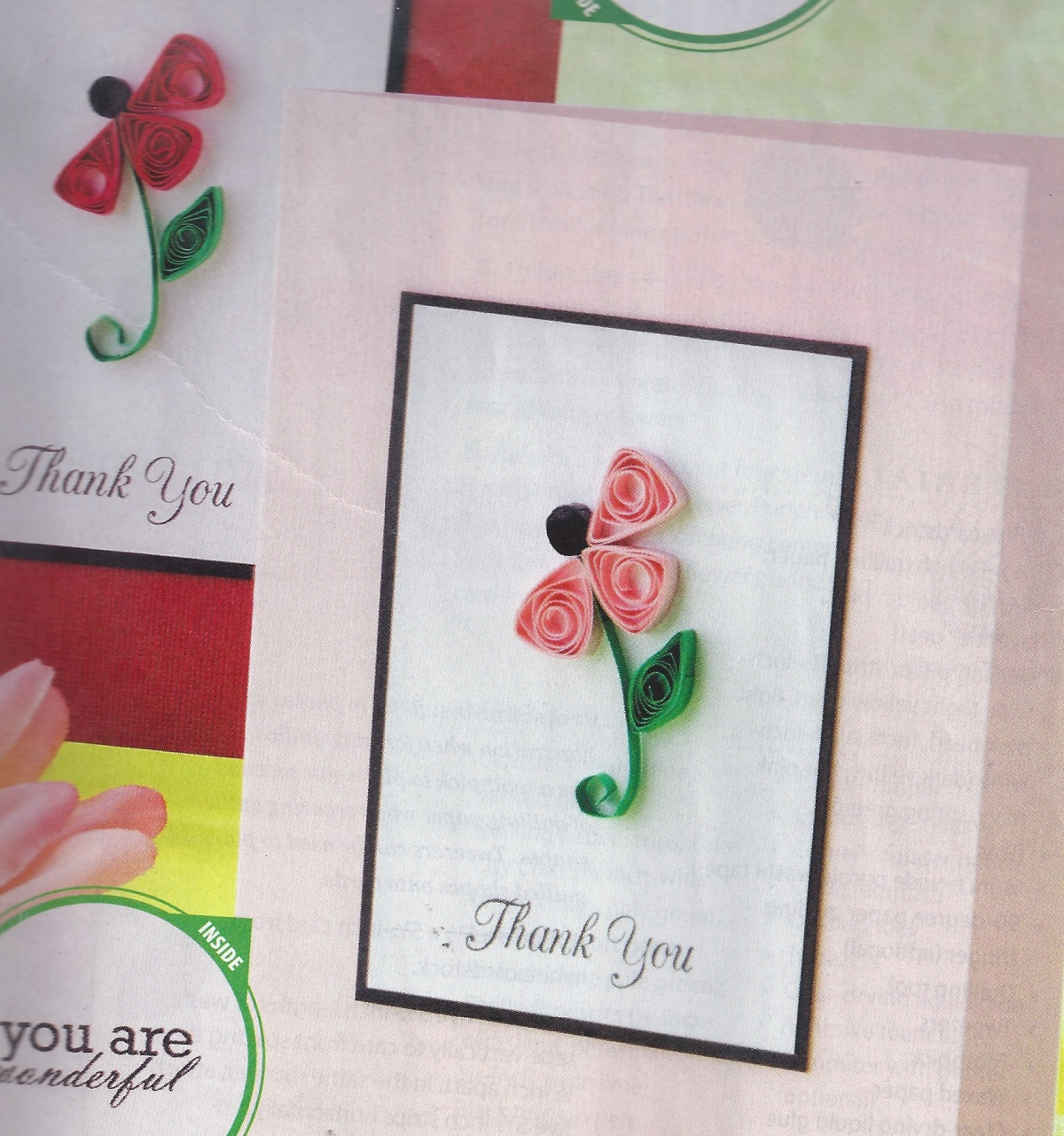 quilling sample from CARDMAKER