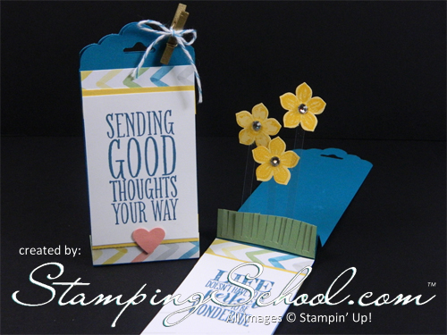 Stamping School stand  up tag card