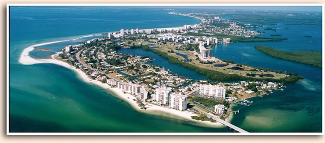 ft myers beach from the air