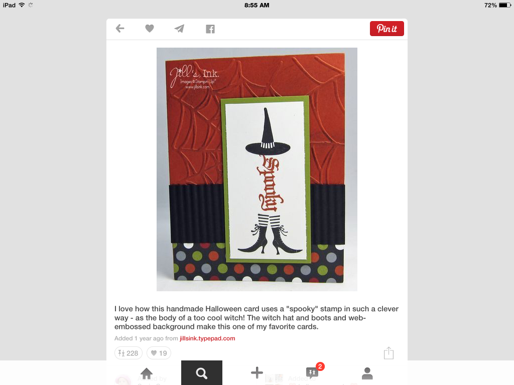 WITCH USING SPOOKY WORD STAMP
