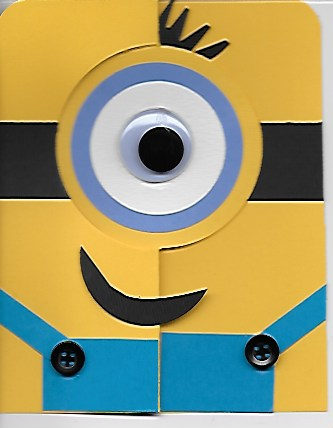 KH MINION CARD /GOGGLEY EYE