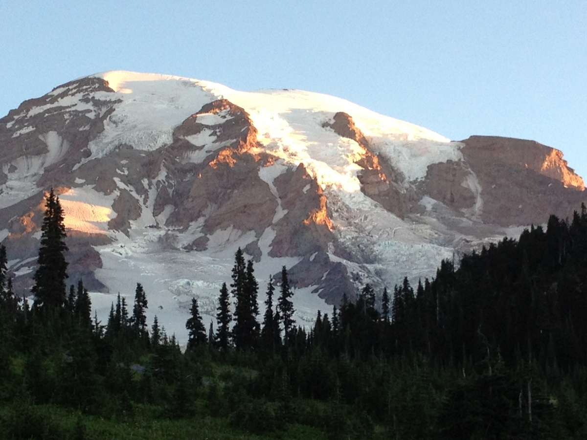 Mt. Rainier at sunrise.