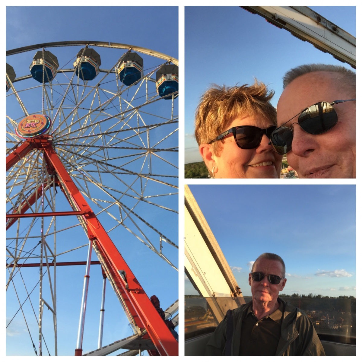 My Ferris wheel ride first time in 44 years...lol