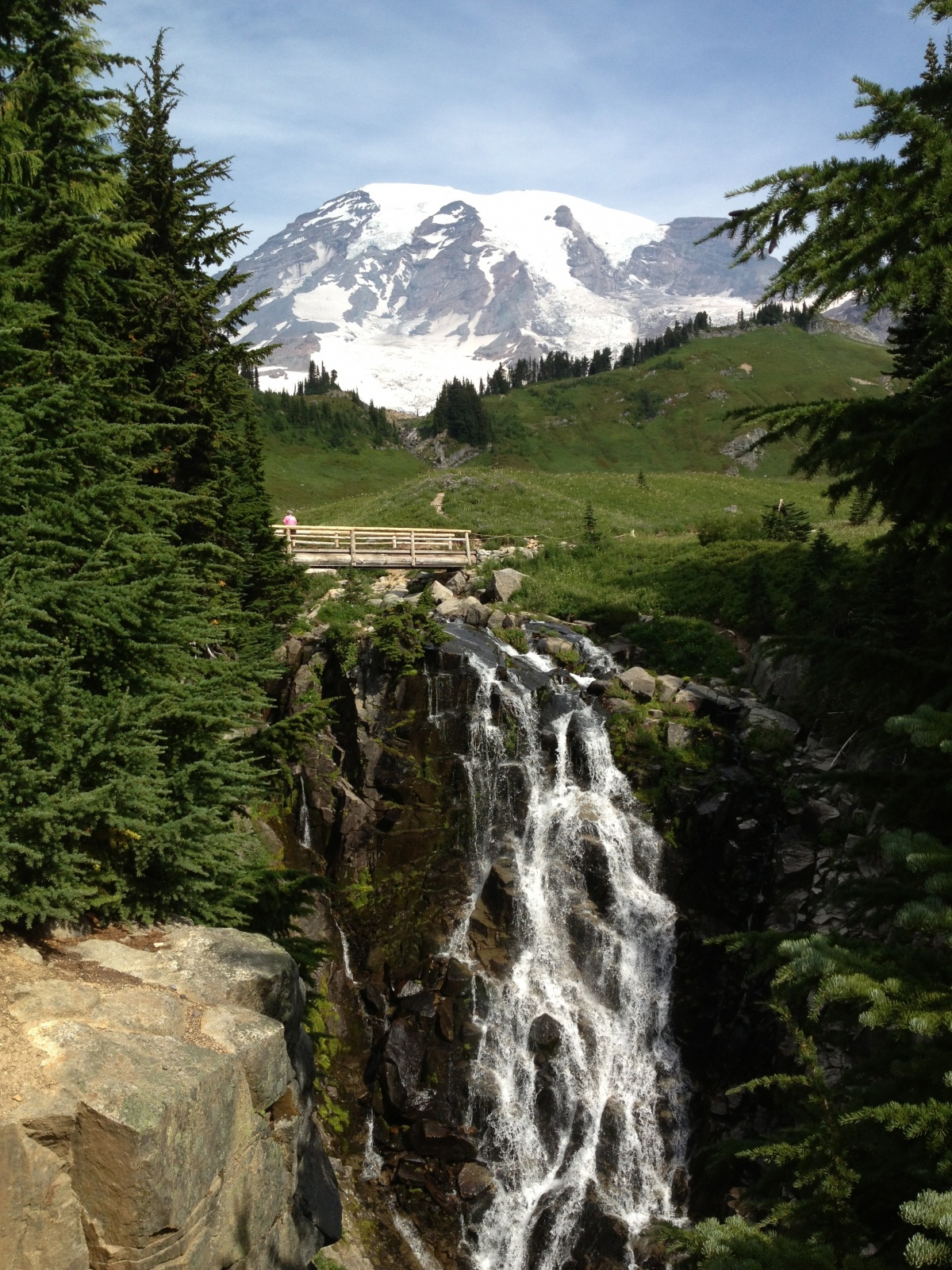 Mt Rainier at Edith creek and or Myrtle Falls