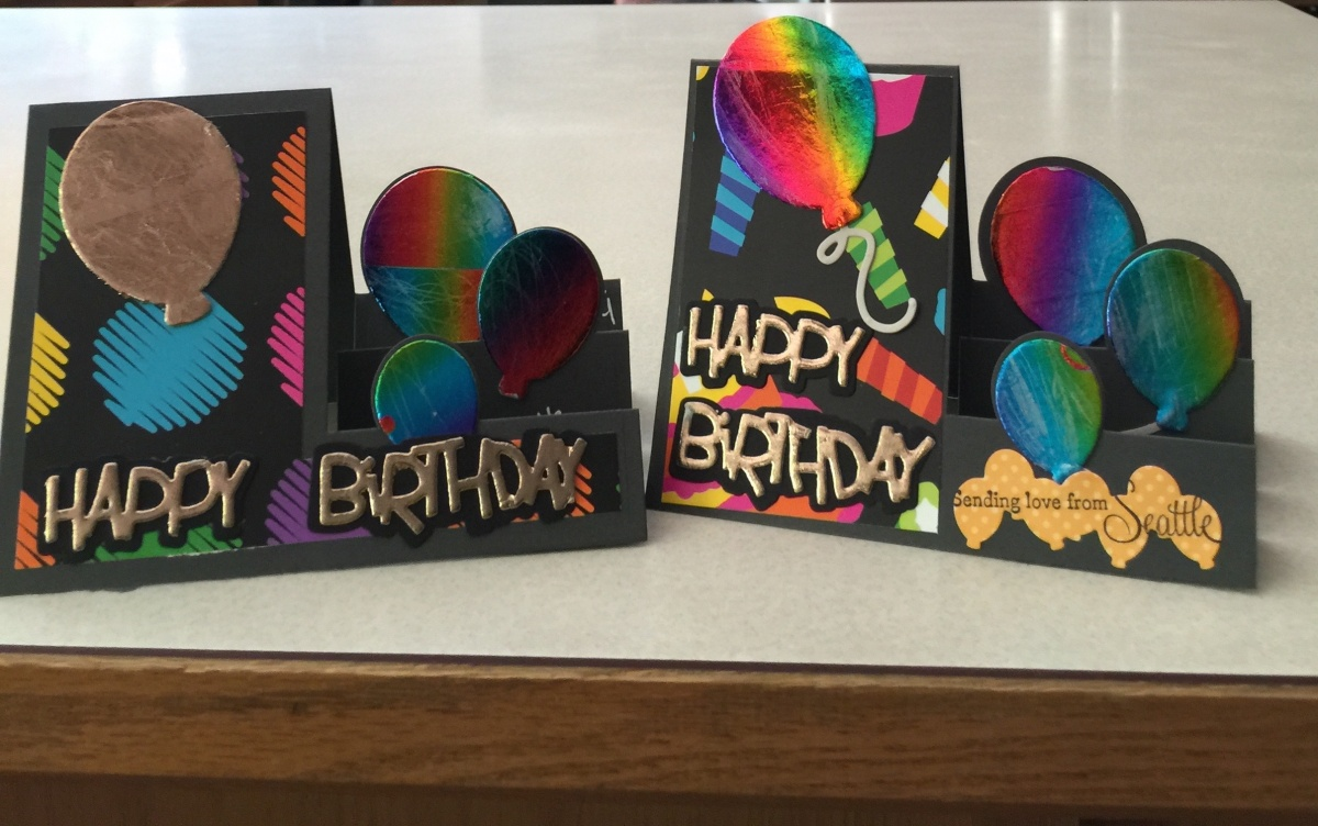 foil and foam birthday balloon card...side step