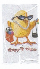 shopping chick napkin