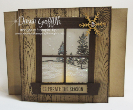 Dawn's luminary window card
