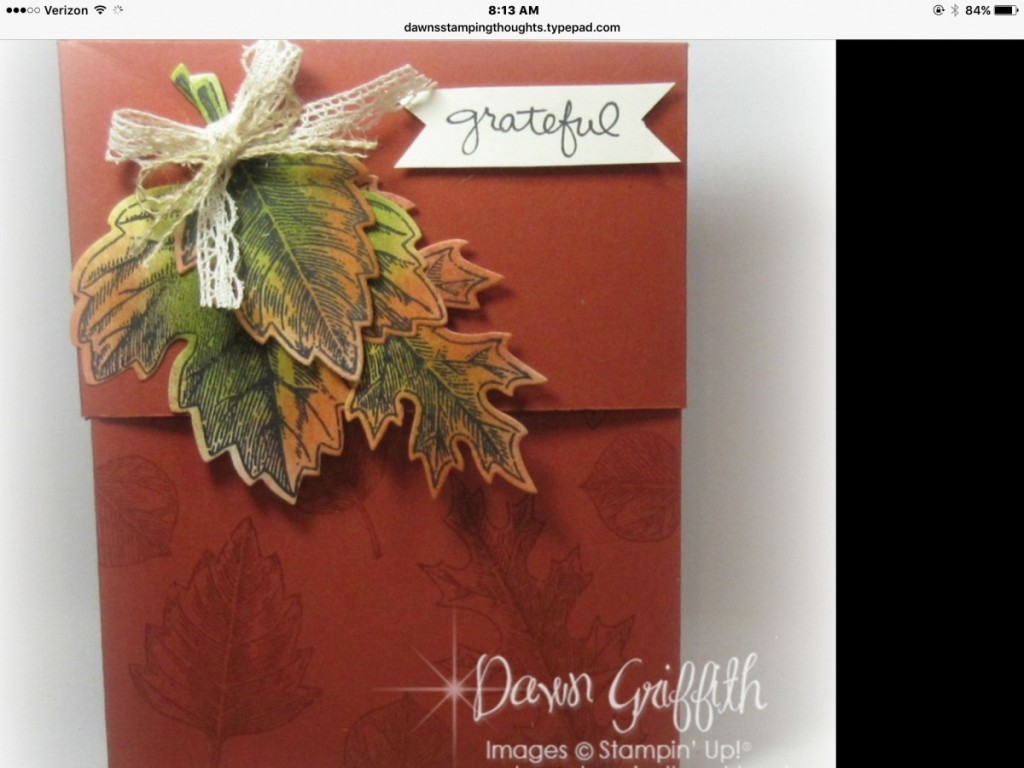 Dawn's vintage leaves box
