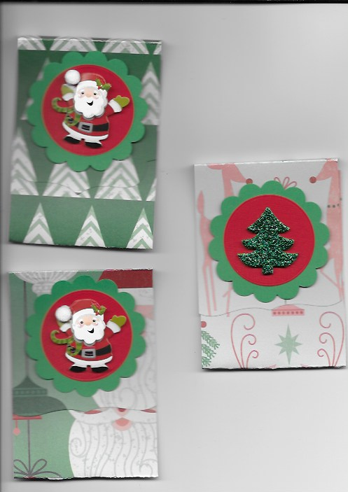 my gift card holder with embellishments