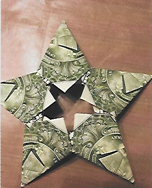 origami money star