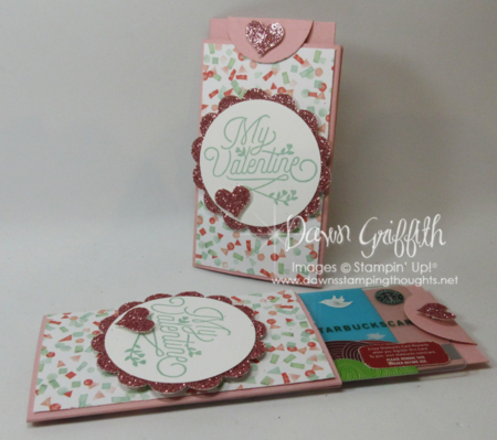 valentine gift card holder that slides in and out