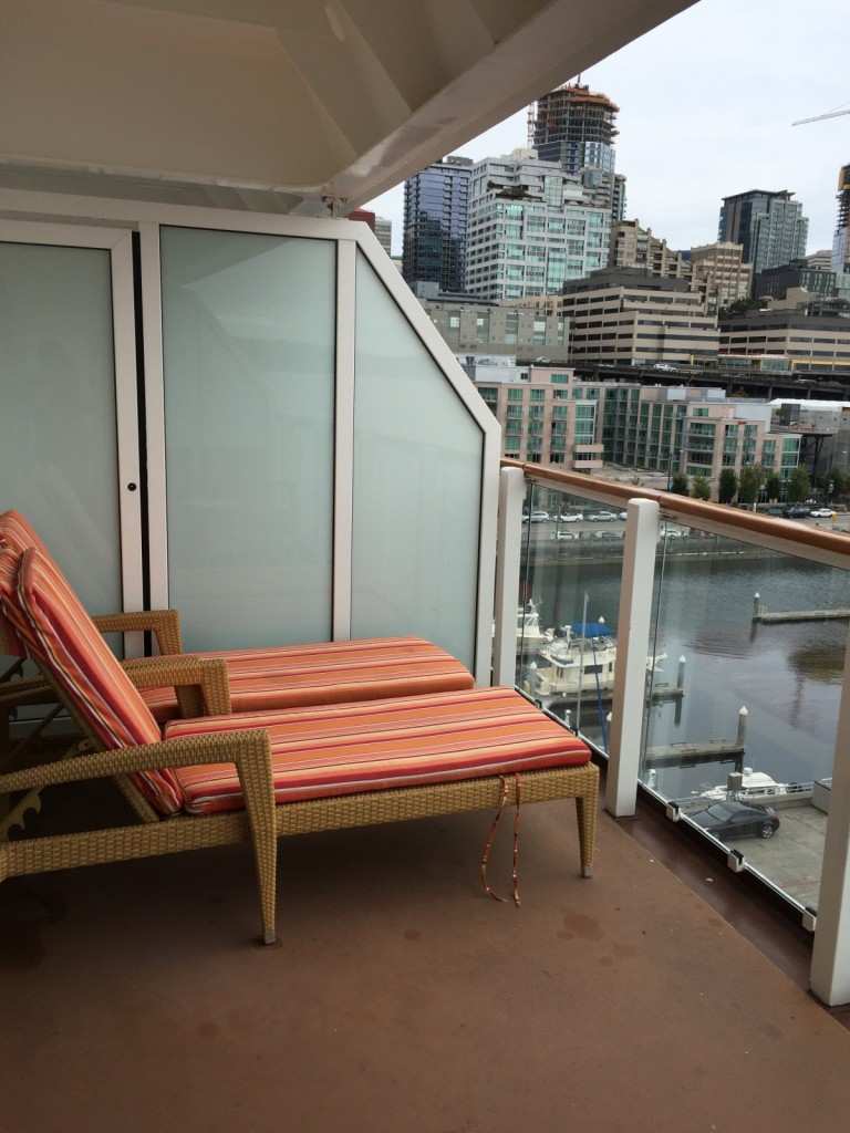 our wonderful deck at the aft end of boat...highly recommend aft end..