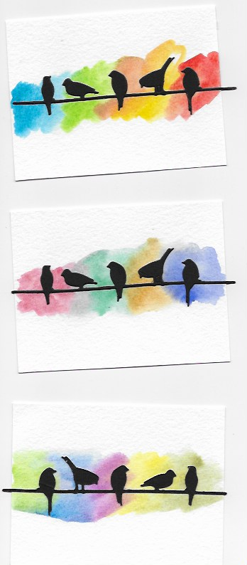 birds and watercolor