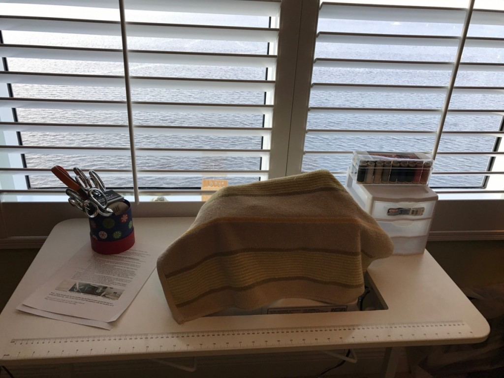 my new sewing table