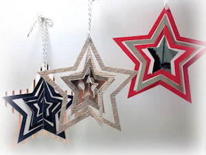 again stitched stars ornament but it could be circles...