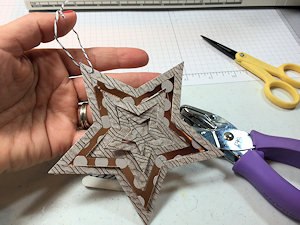 stitched stars...ornament